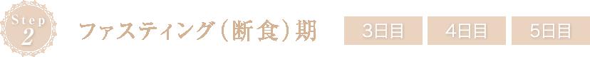 Step2 ファスティング(断食)期 3日目 4日目 5日目