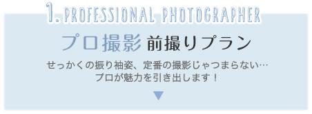 1.professional photographer プロ撮影 前撮りプラン せっかくの振り袖姿、定番の撮影じゃつまらない…プロが魅力を引き出します!