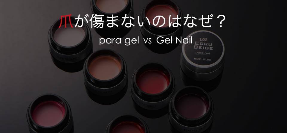 爪が傷まないのはなぜ? para gel  VS  Gel Nail
